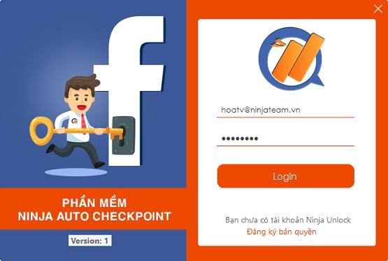 Ninja Auto Checkpoint – phần mềm tự động mở khóa khi facebook checkpoint tài khoản