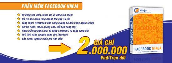 Phần mềm bán hàng trên Facebook – Facebook Ninja quảng cáo, đăng tin hàng loạt