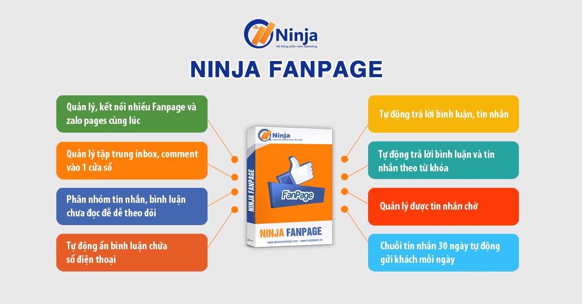 Phần mềm quản lý comment inbox facebook số lượng lớn – Ninja Fanpage