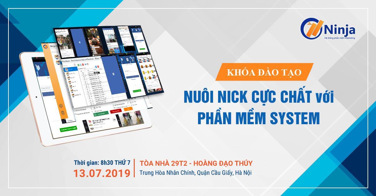 Quy trình nuôi nick – NinjaTeam offline đào tạo nuôi nick