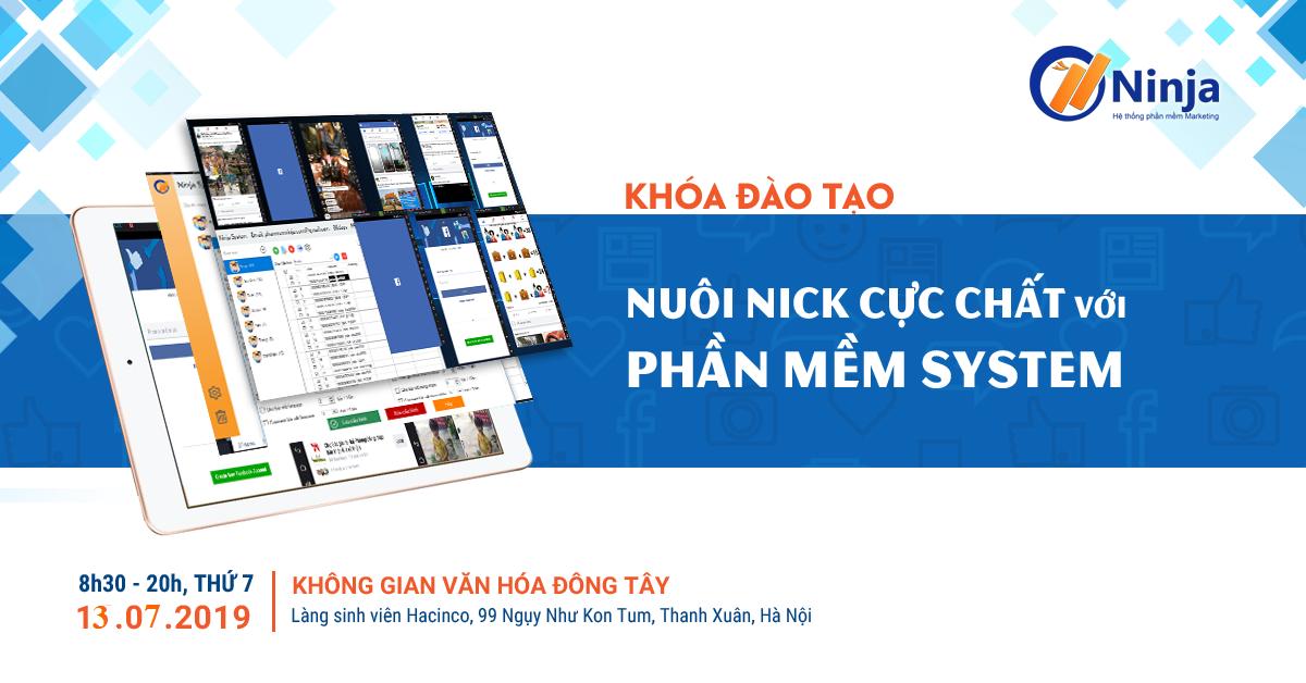 Quy trình nuôi nick facebook trên giả lập – Phần mềm Ninja System