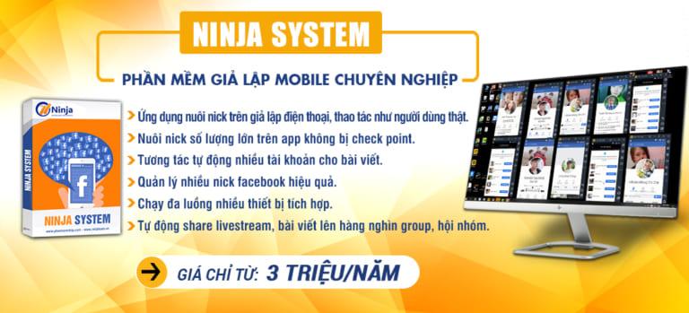 Tool nuôi nick facebook giả lập – Ninja System