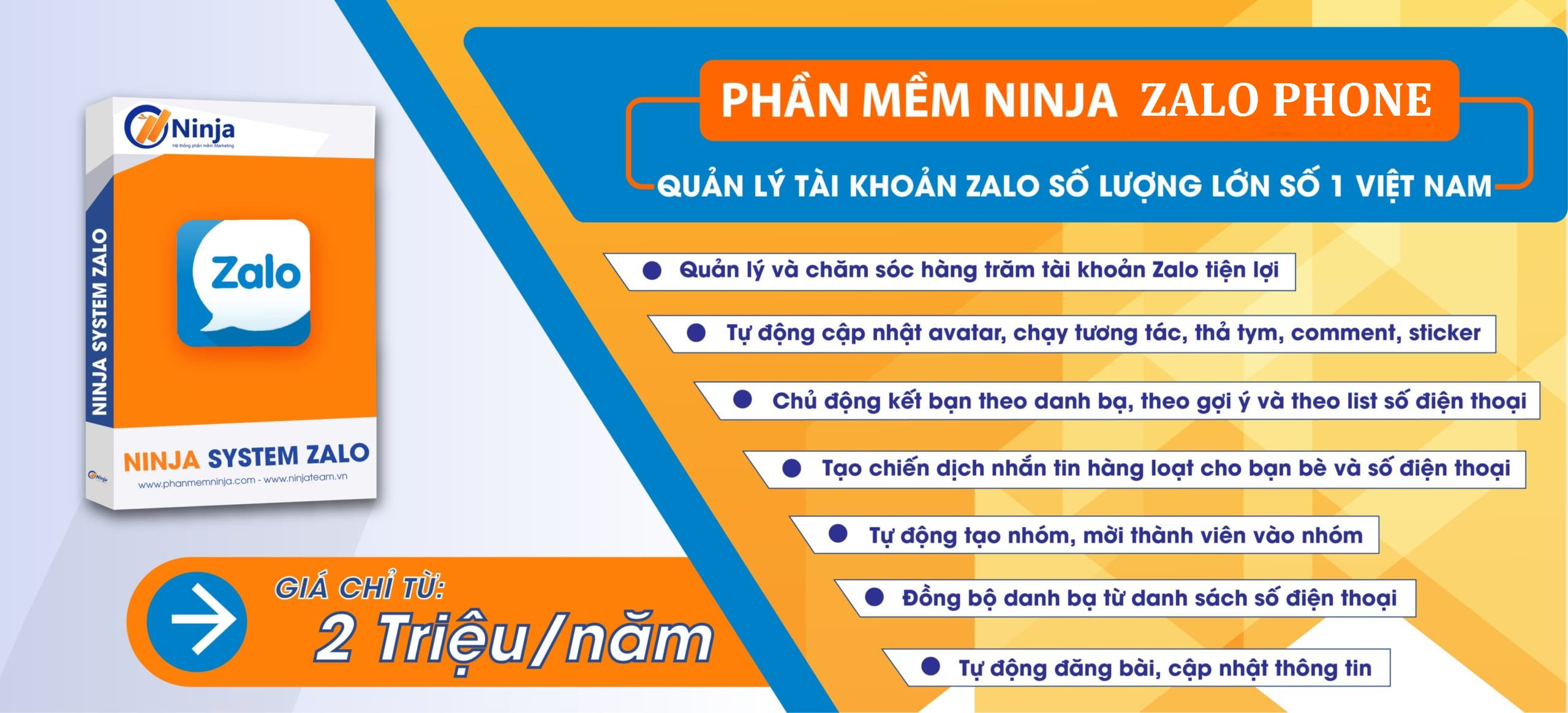 Phần mềm nuôi nick zalo trên điện thoại – Ninja Zalo Phone